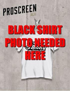 Picture of 1 colour front print - Black shirt